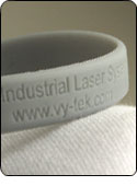 Engraving with a Galvo Laser System on a Silicone Band
